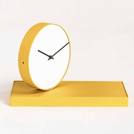 Reloj de mesa giratorio con espejo de acero Made in Italy - Meritorious