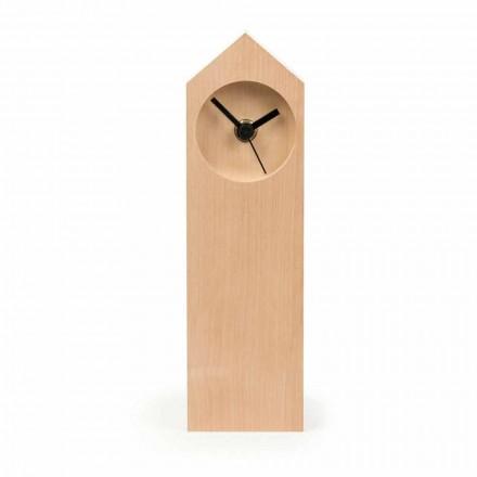 Reloj de mesa moderno de madera de arce evaporada Made in Italy - Arce