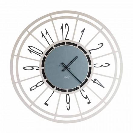 Reloj de pared moderno en hierro avellana o negro hecho en Italia - Topino