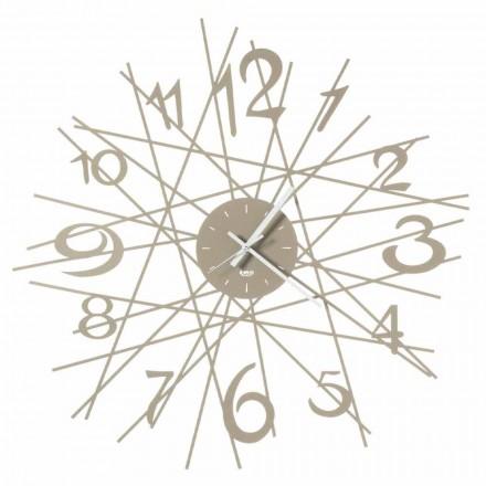 Reloj de pared con diseño de hierro redondo Made in Italy - Kombo