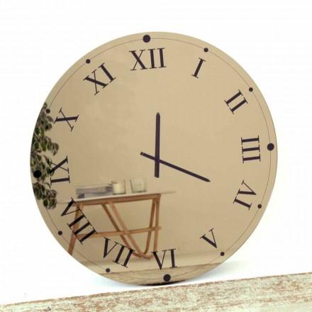 Reloj de pared redondo en cristal espejado Made in Italy - Gear