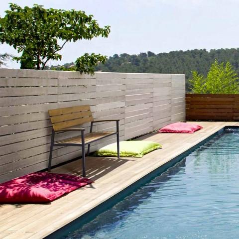 Banco de jardín con estructura en aluminio antracita, Homemotion - Isotta