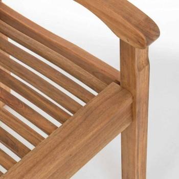 Banco de jardín de madera de diseño al aire libre de 2/3 plazas - Roxen