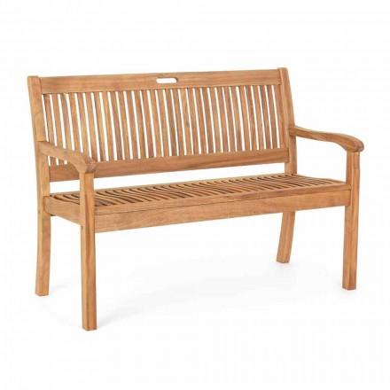 Banco de jardín en madera de acacia para diseño exterior de 2 o 3 plazas - Roxen