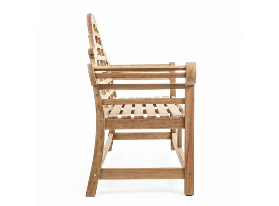 Banco de jardín de madera de teca de diseño rústico - Simonia