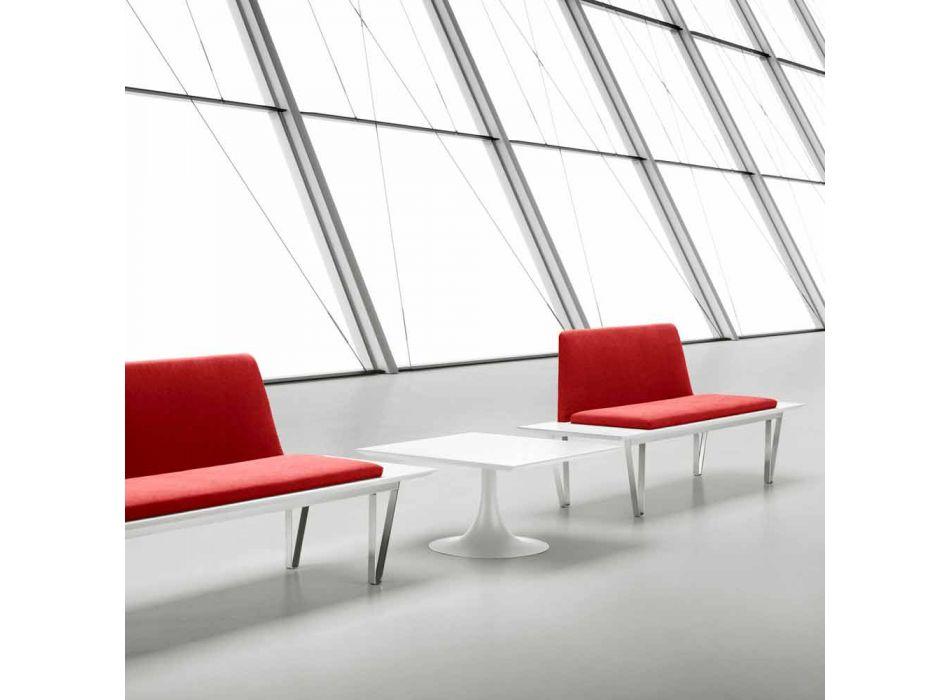 Banco tapizado y tapizado en acero y base de mdf diseño minimalista moderno - Gardena