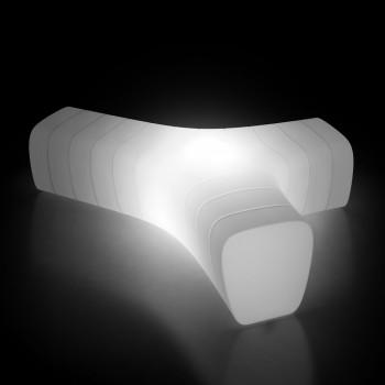 Banco de jardín luminoso de polietileno con LED Made in Italy - Galatea