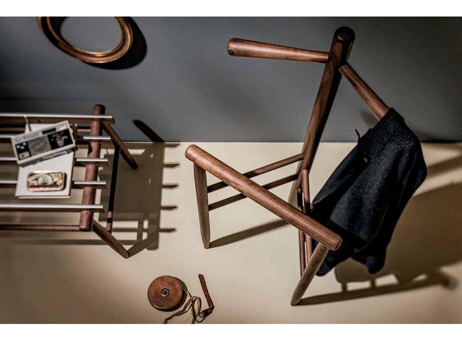 Banco de equipaje en nogal macizo o fresno Made in Italy - Anubi