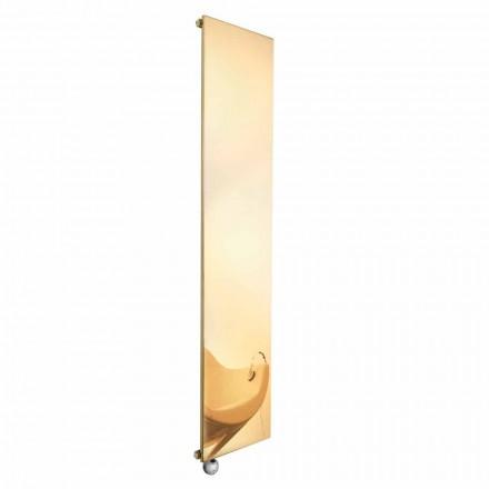 Placa radiante eléctrica vertical en dorado de diseño moderno hasta 1000 W - hielo