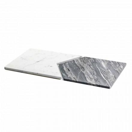 Platos para servir en mármol de Carrara y Bardiglio Made in Italy, 2 piezas - Guisante