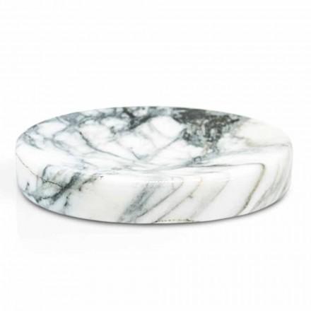 Jabonera de baño en mármol Paonazzo Modern Made in Italy - Argos