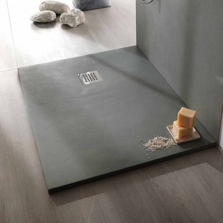 Plato de Ducha 120x90 Diseño Moderno en Resina Efecto Hormigón - Cupio