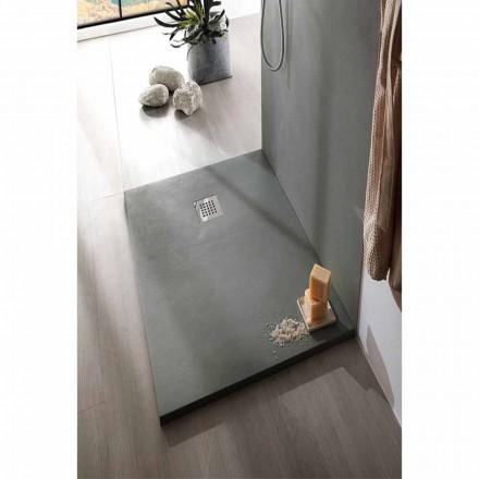 Plato de ducha 140x70 cm en blanco o gris - Resina efecto cemento Cupio