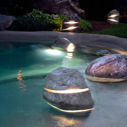 Piedra decorativa de la luz iluminante por inmersión dos veces con 2 ranuras