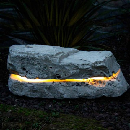 Piedra iluminando con difusor de sonido Pesco Carnico sonido