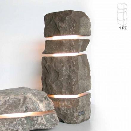 Piedra de mármol Pesco Carnico luminoso con 3 cortes Stonehenge