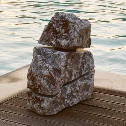 Piedra brillante mármol Pesco Carnico llevó la Cruz, una pieza