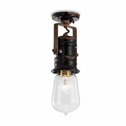 Lámpara de techo proyector de cerámica techo, vidrio y metal Bryanna