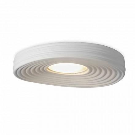 Lámpara de techo de diseño moderno para sala de estar en yeso blanco mate - Regaliz