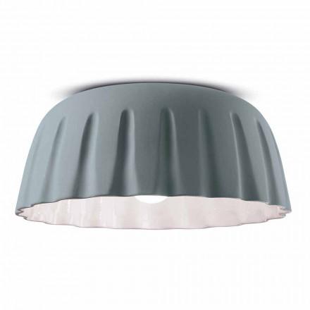 Lámpara de techo de cerámica de diseño vintage Made in Italy - Ferroluce Madame Grès