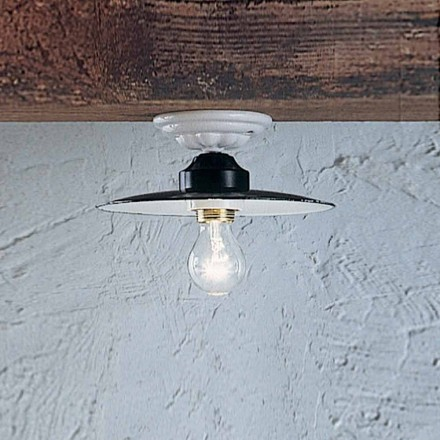 techo rústica lámpara de techo potencia redondo de cerámica Ferroluce