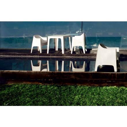 Sillón de exterior de diseño moderno en polipropileno, Solid by Vondom, 4 piezas