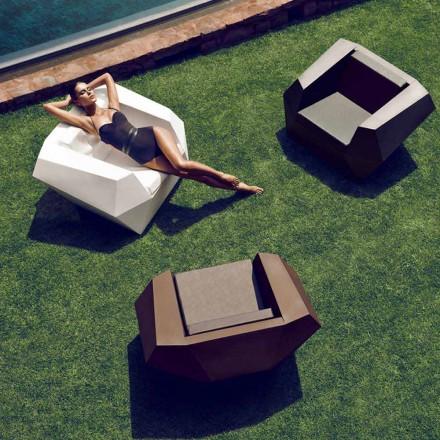 Sillón de exterior de diseño moderno, en polietileno, Faz by Vondom