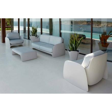 Sillón de jardín de diseño moderno de polietileno, Pezzettina by Vondom