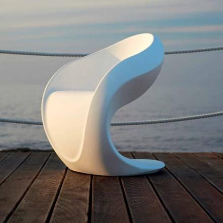 Sillón de diseño interno o externo en polietileno blanco - Petra by Myyour