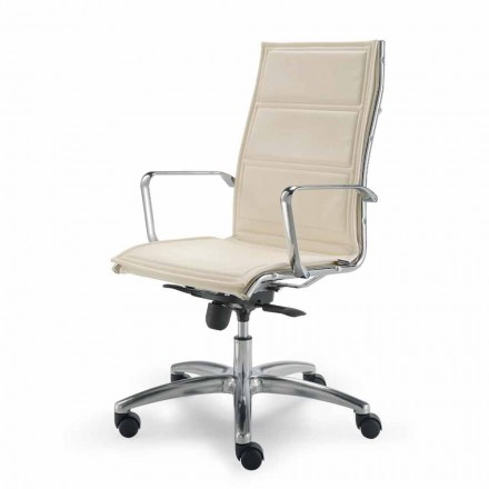 flor de piel de vaca silla de oficina direccionales tipo Agata