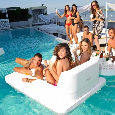 Trona Magnum silla de piscina flotante con asiento doble