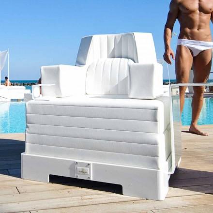 Sillón flotante Trona Luxury de diseño blanco, fabricado en Italia