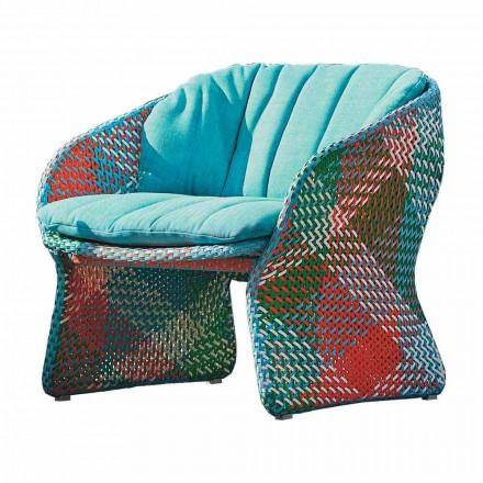 Sillón tapizado de exterior para salón, en fibra sintética - Maat by Varaschin