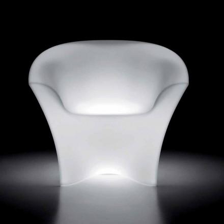 Sillón de exterior luminoso en polietileno con luz LED Made in Italy - Conda