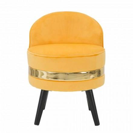 Mini sillón de color moderno en madera y tela - Koah
