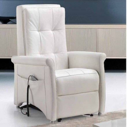 Sillon reclinable electrico, motor de Via Roma, fabricado en Italia