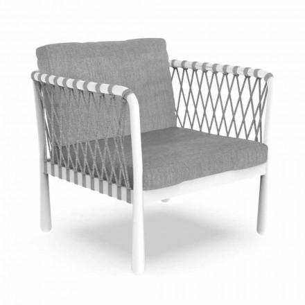 Sillón moderno de exterior en aluminio y tela - Sofy by Talenti