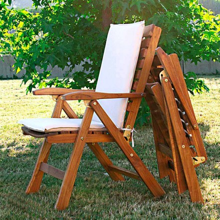 Sillon plegable de jardín de madera de teca