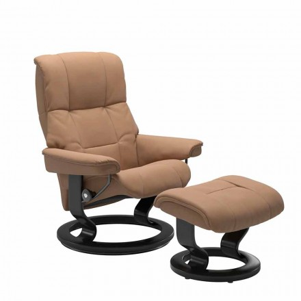 Sillón reclinable de cuero con otomana de Stressless - Mayfair