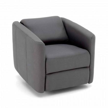 Sillón reclinable giratorio moderno en polipiel - Magalotti
