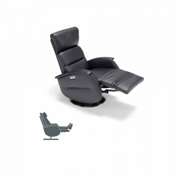 sillón giratorio motorizado relajante en textil y piel / cuero / imitación de Gemma