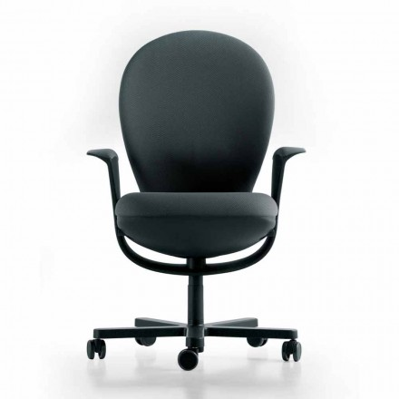 Silla de oficina ejecutiva de diseño Bea, concha gris Luxy