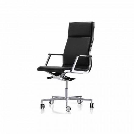 Sillón de oficina de diseño ergonómico con reposabrazos Nulite Luxy