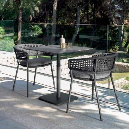 Asiento de jardín Moon Alu de Talenti, en aluminio con diseño moderno