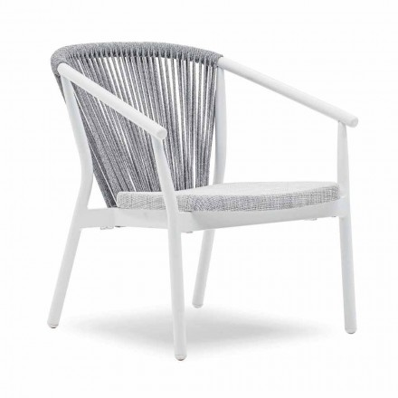 Sillón de jardín apilable de aluminio y tela - Smart By Varaschin