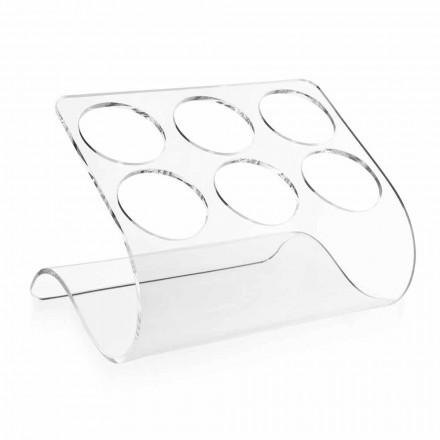 Portabotellas independiente para 6 botellas en plexiglás transparente - Tanatin