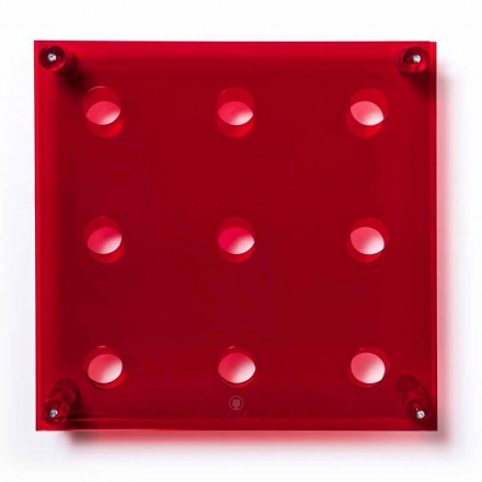 Estante de pared Amin Big L45xH45xP13,6cm rojo transparente