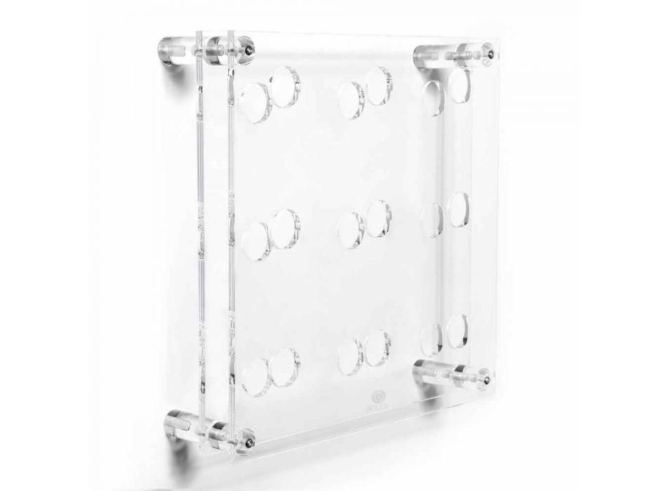 Amin Big portabotellas transparente de pared L45xH45x13.6cm