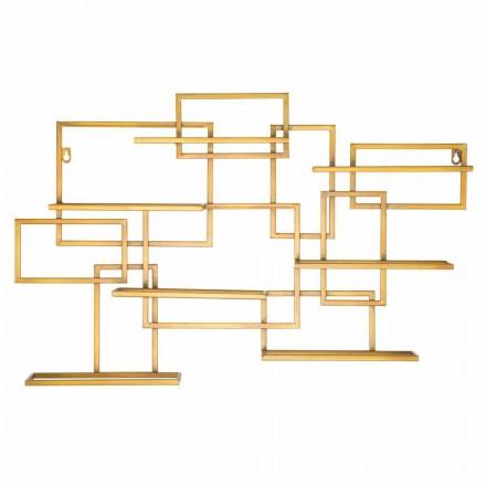 Portabotellas de hierro de diseño horizontal - Berti