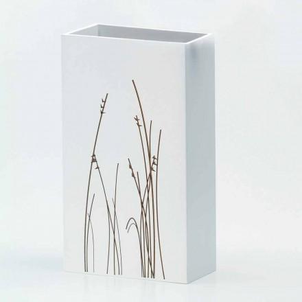 Paragüero blanco en madera decorada Diseño moderno Rectangular - Filigrana